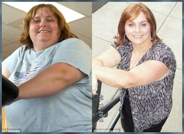 A transformação que se deu no corpo de Lauri em apenas um ano é notável.