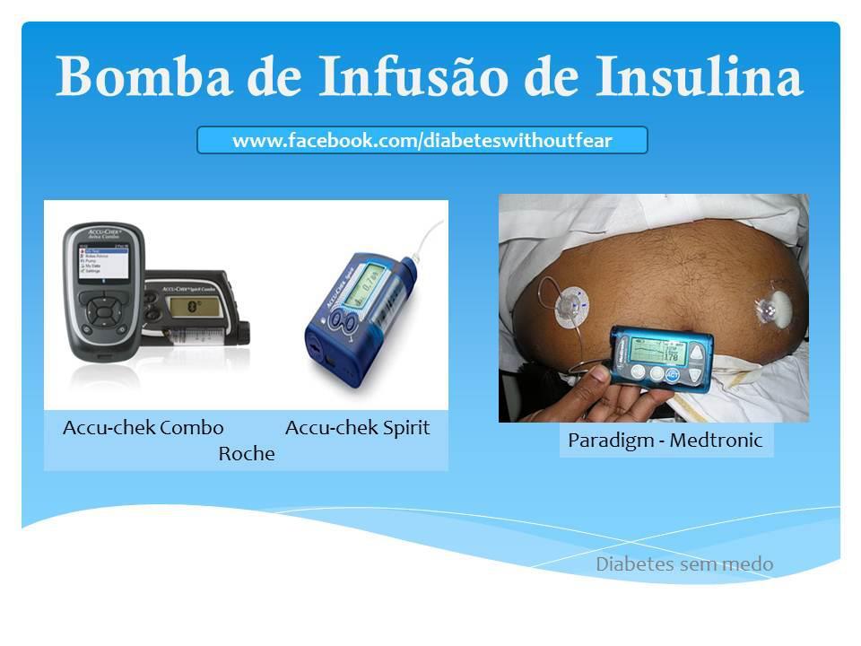 Bomba de infusão de insulina para diabéticos