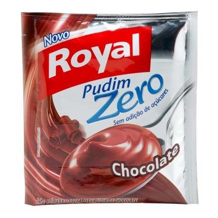 Uma boa e fácil de encontrar opção de pudim de chocolate sem açúcar.
