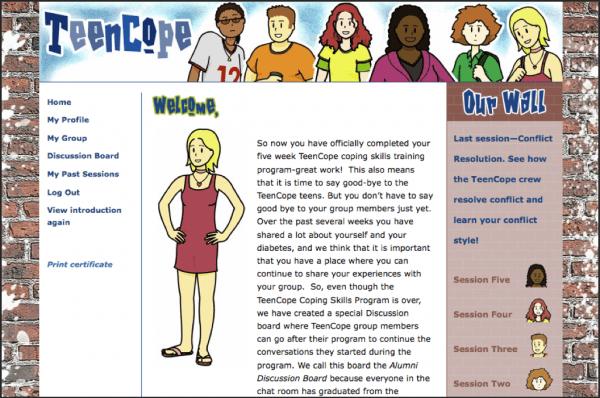 O programa para computador TeenScope, para jovens com diabetes, foi um dos testados no estudo.