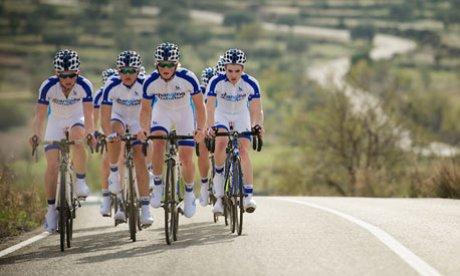 Representantes da equipe Novo Nordisk, primeira do mundo a ter apenas atletas com diabetes.