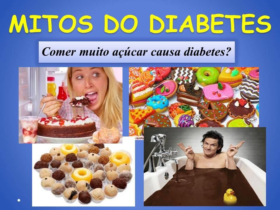 diabetes sem medo mitos do diabetes comer muito açucar