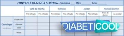 tabela controle da glicemia diabeticool