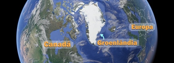 mapa groenlandia