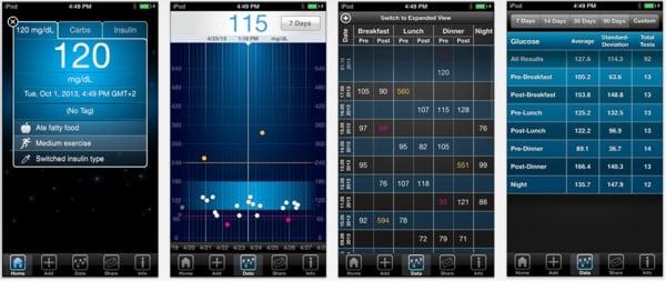 screenshots ibgstar app diabetes