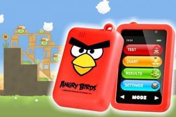 glicosímetro angry birds